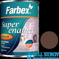 Эмаль Farbex ПФ-115П коричневая 0,3 кг