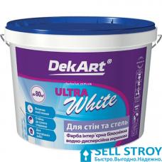 Краска DekArt Ultra White интерьерная белоснежная 1.2 кг