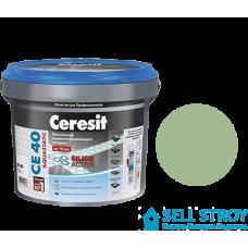 Затирка Ceresit CE 40 Aquastatic для швов плитки салатовый 2 кг