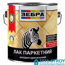 Лак ЗЕБРА паркетный алкидно-уретановый 2,5 л