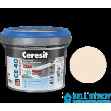 Затирка Ceresit CE 40 Aquastatic для швов плитки натура 2 кг