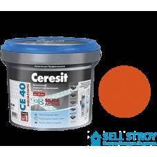 Затирка Ceresit CE 40 Aquastatic для швов плитки кирпичный 2 кг