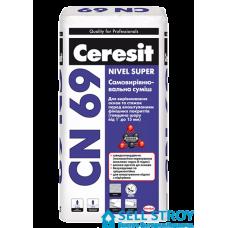 Самовыравнивающаяся смесь Ceresit СN-69 25 кг