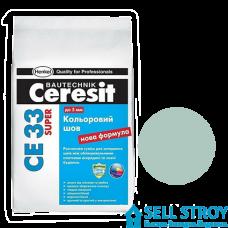 Затирка Ceresit CE 33 PLUS цв.шов 1-6 мм №160 Мята 2 кг