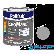 Грунт Полифарб ЭкоМаль ГФ-021 серый 0,9 кг