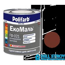 Грунт Полифарб ЭкоМаль ГФ-021 красно-коричневая 0,9 кг