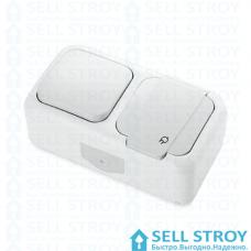 Блок розеточный VIKO с выключателем и заземлением белый (шт.)