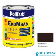 ЭкоМаль ПФ 115  0,9 кг. коричневая (шт.)