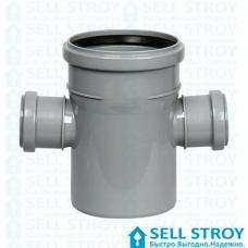 Крестовина канализационная Европласт 110х50х50 мм 90 градусов (шт.)