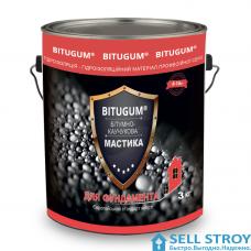 Мастика BITUGUM  битумно-каучуковая 3 кг (шт.)