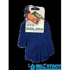 Перчатки Doloni с точкой ПВХ Синие (пара)