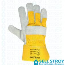 Перчатки-краги DOLONI комбинированные желтые