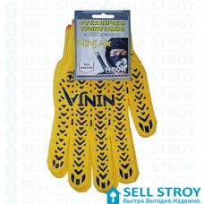 Перчатки NINJA трикотажные желтые