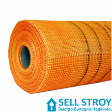 Сетка штукатурная фасадная  с ячейкой 5х5 мм 160 г/м2 (оранжевая) (1м2)